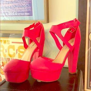 Pink platform shoes